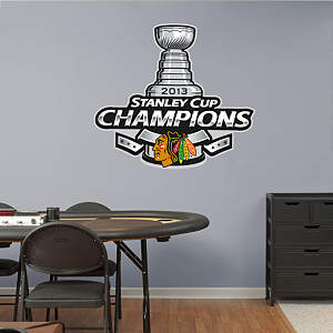 Chicago Blackhawks 2013 Stanley Cup Champions Logo Fathead Wall Decal